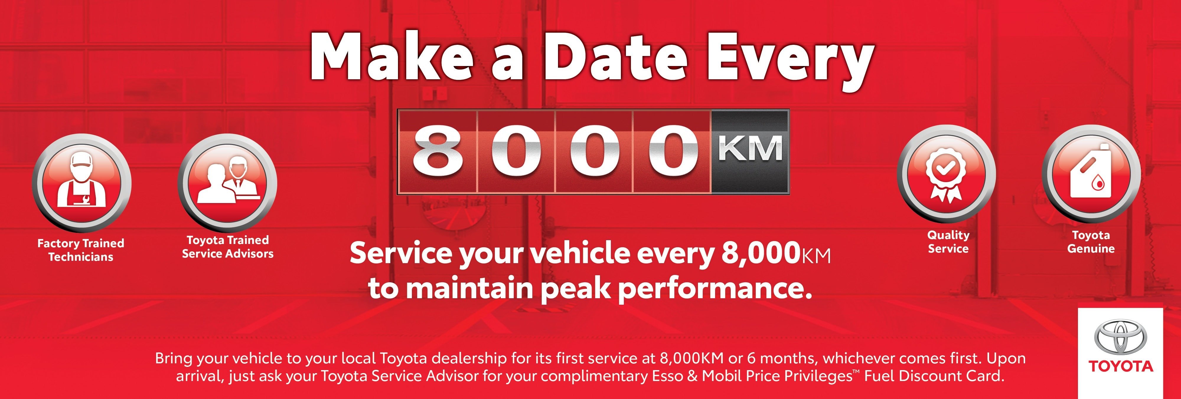 Make a Date Every 8000 km