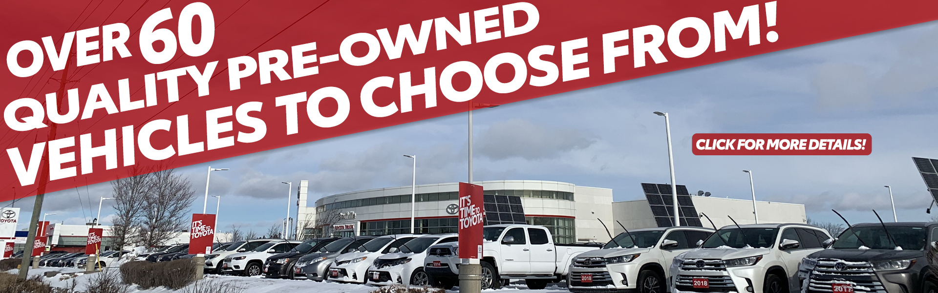 Over 60 Quality Pre-Owned Vehicle In-Stock