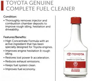 fuel cleaner additive